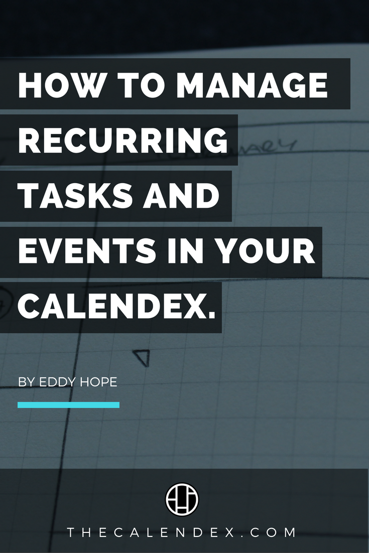 If you're new to the #Calendex or even a semi-pro, you may be wondering how on earth are you supposed to actually manage recurring events or tasks. Well, it couldn't be easier... #productivity #planner