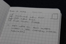 Pocket Notebook Daily Plan Set Up